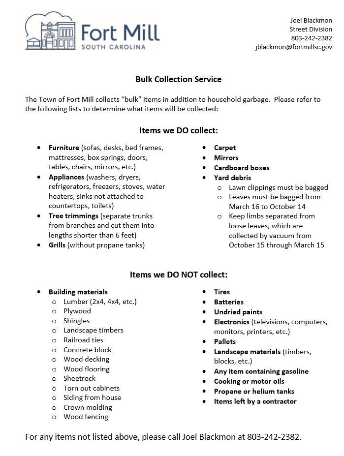 Bulk Collection Service