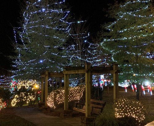 Millstone Park Christmas lights 2020